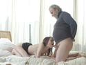 Would you fuck a nice student if she needed to make up for bad grades? This old guy sure did!
