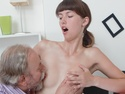 Marisa's teacher moves in and starts to suck her nipples and use his mouth on her sexy tits