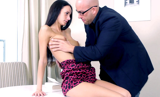 Stud gets to fulfill Veronika's sex wish by fucking her in her favorite sex position