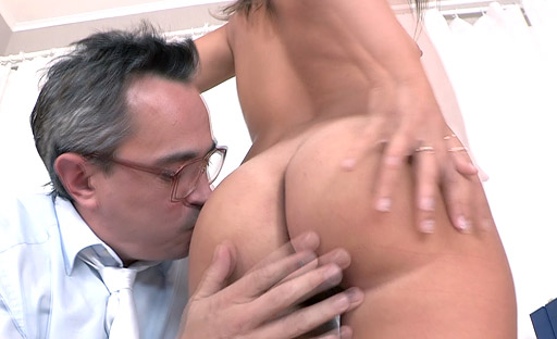 Maia likes to feel her teachers cock deep inside her young pussy when she raises her leg up!