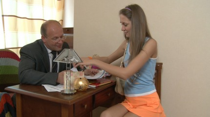 Lustful instructors seduced his lovely student