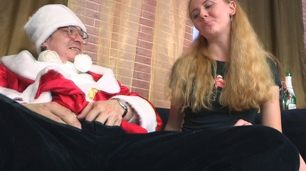 What do you re do when you re catch you rer teacher dressing up as Santa You fuck him of course