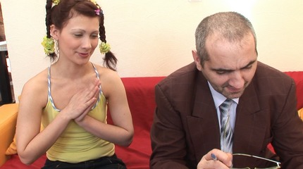 Sweet redheaded coed goes wild with her teacher