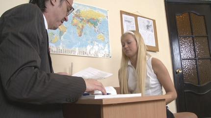 Young teenager slut enjoys teachers cock