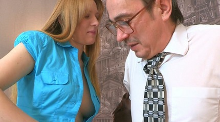 There is nothing like watching a filthy old teacher getting off with one of his students