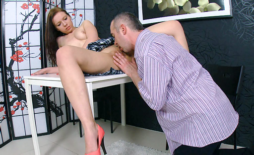 Videogirl lick her own clit