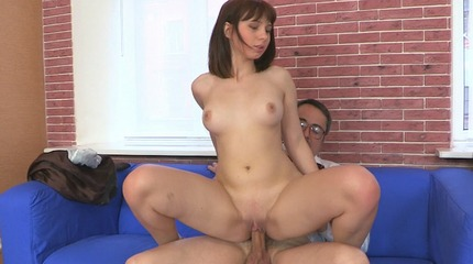 Elena rides her teachers rough cock while on top of him with her body bouncing up and down on him Elena spreads her legs and rides her teachers penish and feels him thrust his heavy penish deep inside her from below. She has her tits cupped and held by him as he fucks as well.. Elena.