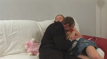 astonied private talk with a cute blonde student turned into a hard fucking session