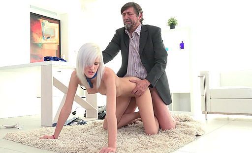 Sexy Misa shows her tricky old teacher what her mouth can do to his cock