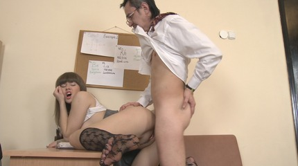 Wendy turnes wet from deep sucking Teen excited coed didn't know that her teacher is such a passionate lover untill he drilled her poon.. Wendy.