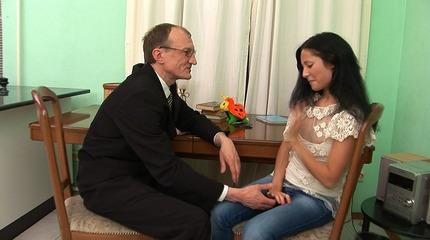 Susannah bonks with her teacher