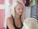 Lera is a young and sexy blonde and her man arrives at her place and will soon have her.