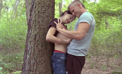 At the end of this scene Olga's boyfriend virtually explodes the contents of his balls all over her tits