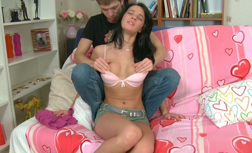 Brunette this girl got her sweet holes drilled