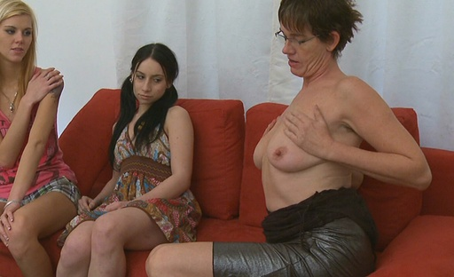 Manipulative lesbian teaches strip young Lola and her friend that undressy are indeed gay