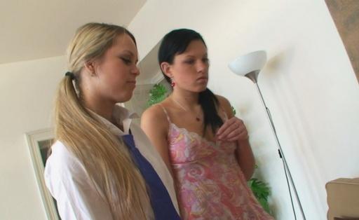 Karina licks Stefanis swollen nipples