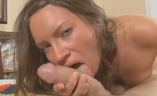 Hot young brunette really goes cast it on her first time anal adventure