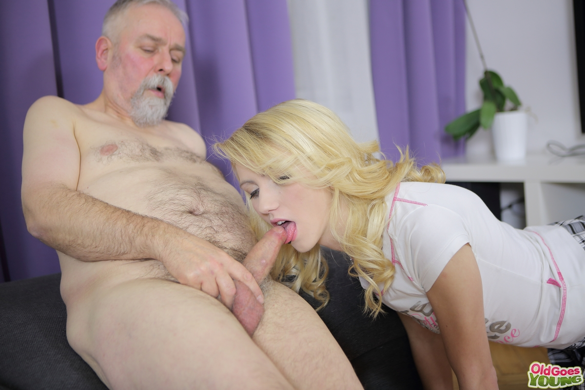 naked woman and old man