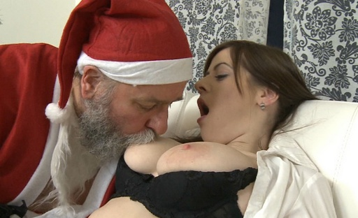 Svetlana has her tits felt up by her older lover and she enjoys his older touch
