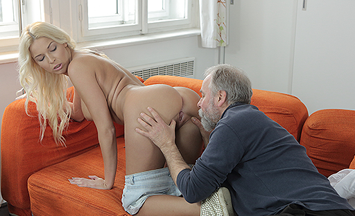 Blonde Teens Fucking in the Forest With Old Man - Free.