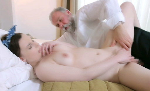 Lenka sucked this old goes young guy's dick like it had never been sucked before