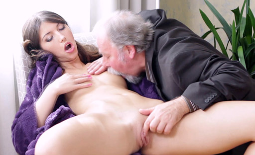 Kira likes old cock especially when the guy is hammering her pussy from behind.