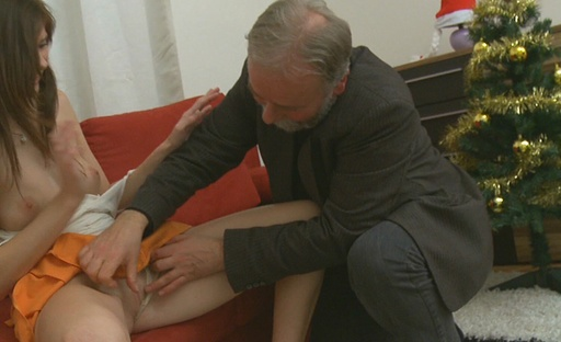 Alina isnt used to having sex at all so when shes left with this old guy shes very shocked to see whats on offer