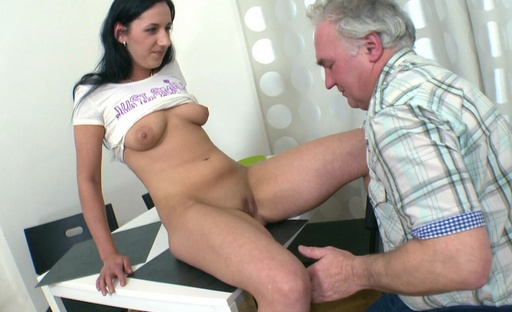 Ami gets her pussy licked by this dirty old perv and gets really wet for him too