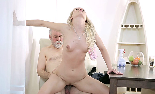 Polina comes multiple times after old goes young guy licks her pussy like a pro
