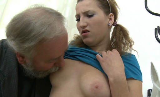 Sveta gets fucked hard by her older friend and he drives his hard cock deep inside Svetaa's young pussy.