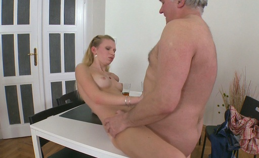 Rosy gets really turned on when she gets fucked nice and hard by an older guy