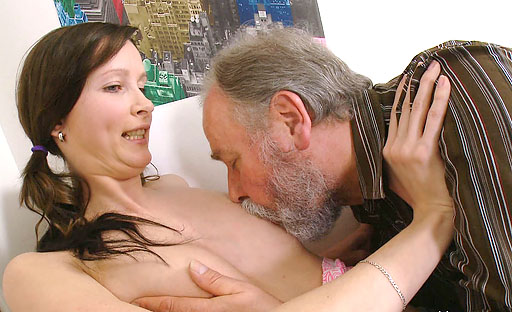 A lucky older man is the focus on this scene as he fucks barely legal Jenya.