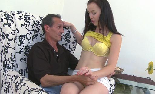 Anastasia appreciates her lesson in oral sex