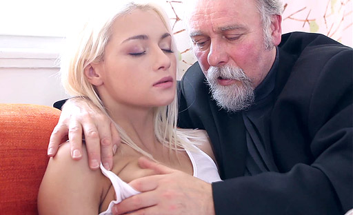 Tanya chosen by old goes young guy because of her amazing blowjob skills