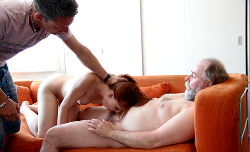 Sveta is fucked hard by her older friend, and he thrusts his older cock deep in her younger pussy