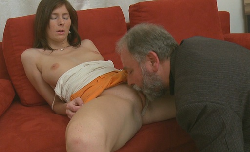 Alina isn't used to having sex at all, so when she's left with this old guy she's very shocked to see what's on offer