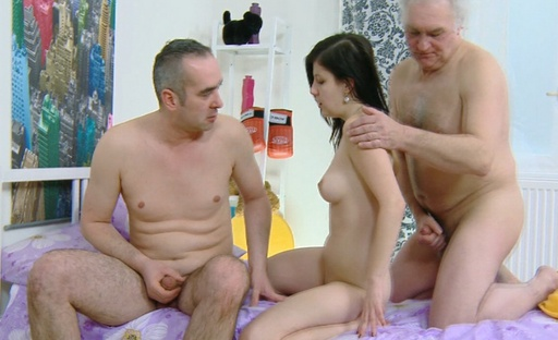 Alena is fucked deeply by her older lover, and she loves his cock in her pussy.