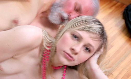 The old goes young stud sucked Renata's tits and drove her wild