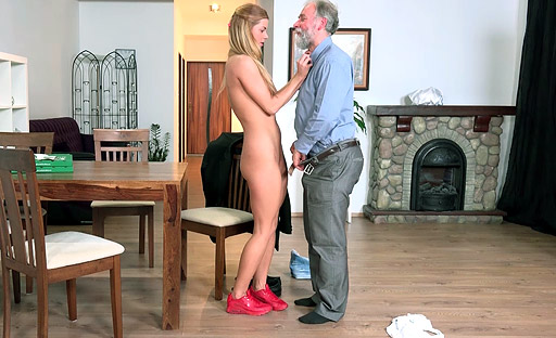 Chrissy Fox gives up the pussy to a horny old fart