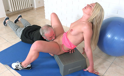 Martina yearns for hardcore sex and this old goes young guy gives it to her