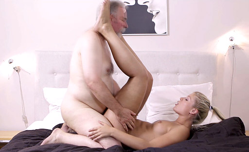 Grandpa goes hard with young polish babe 9