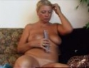Horny aged blonde goes wild with her kinky toys
