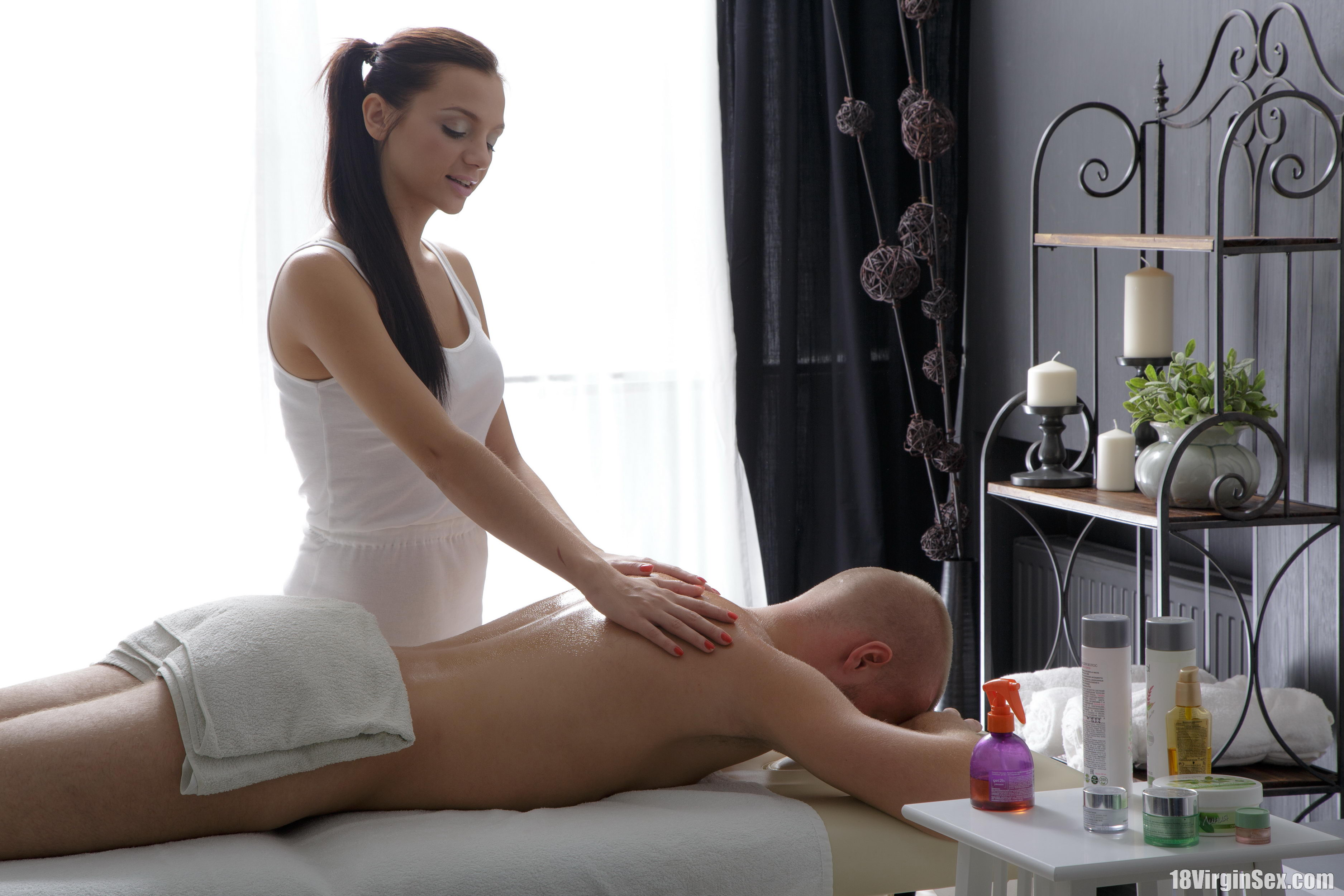 18 virgin sex ludmila gets a massage from her new client 4